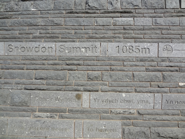 The side of the Cafe at 1085 mtrs above sea level! I was greeted by a small crowd of climbers resting on it's steps. They clapped me when I got up there and wondered where I had come from - as apparently everyone else was using a different way up....