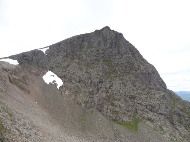 The peak of Ben Nevis from the Arete!