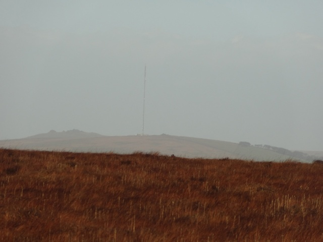 *Zoom On* To the North I catch site of the Television Mast on North Hessary Tor. This is one of the objectives of today's walk - at least I'm headed in the right direction! :)